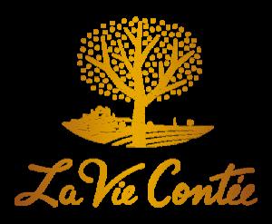 Logo La Vie Contée - Doré dégradé
