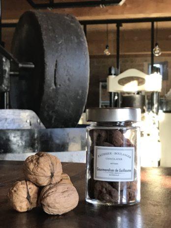 Noix enrobées caramel et cacao – 100g