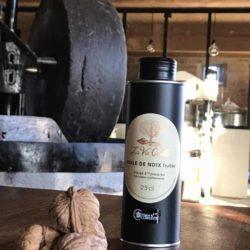 Huile de noix vierge monovariétale Franquette fruitée – 25 cl