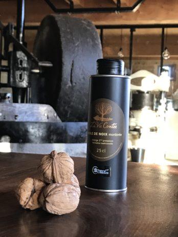 Huile de noix vierge monovariétale Franquette mordorée – 25 cl