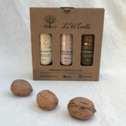 Coffret d'huiles de noix – Les Chaleureuses – 3x25cl