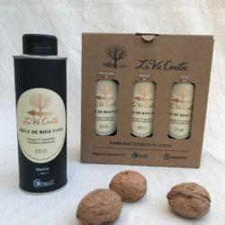 Coffret d'huiles de noix – Les Monovariétales – 3x25cl